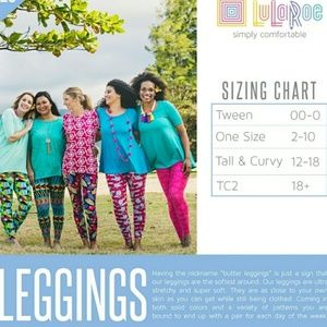 LuLaRoe Pants - ⬇⬇$30 LuLaRoe TC Tall Curvy 12 18 Legging Telephon